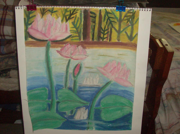 Dry pastel drawing