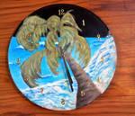 Palm Tree Clock by JLynchArtistry