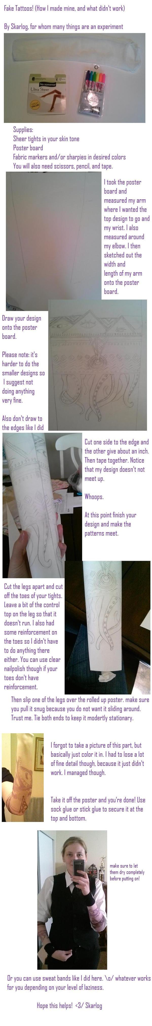 Fake tattoo sleeve tutorial