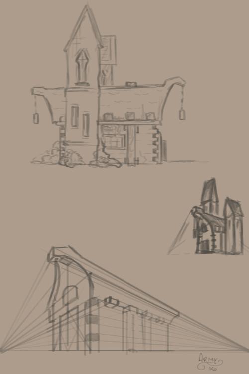 Building Design - Sketch 01 by ArmandoFlores