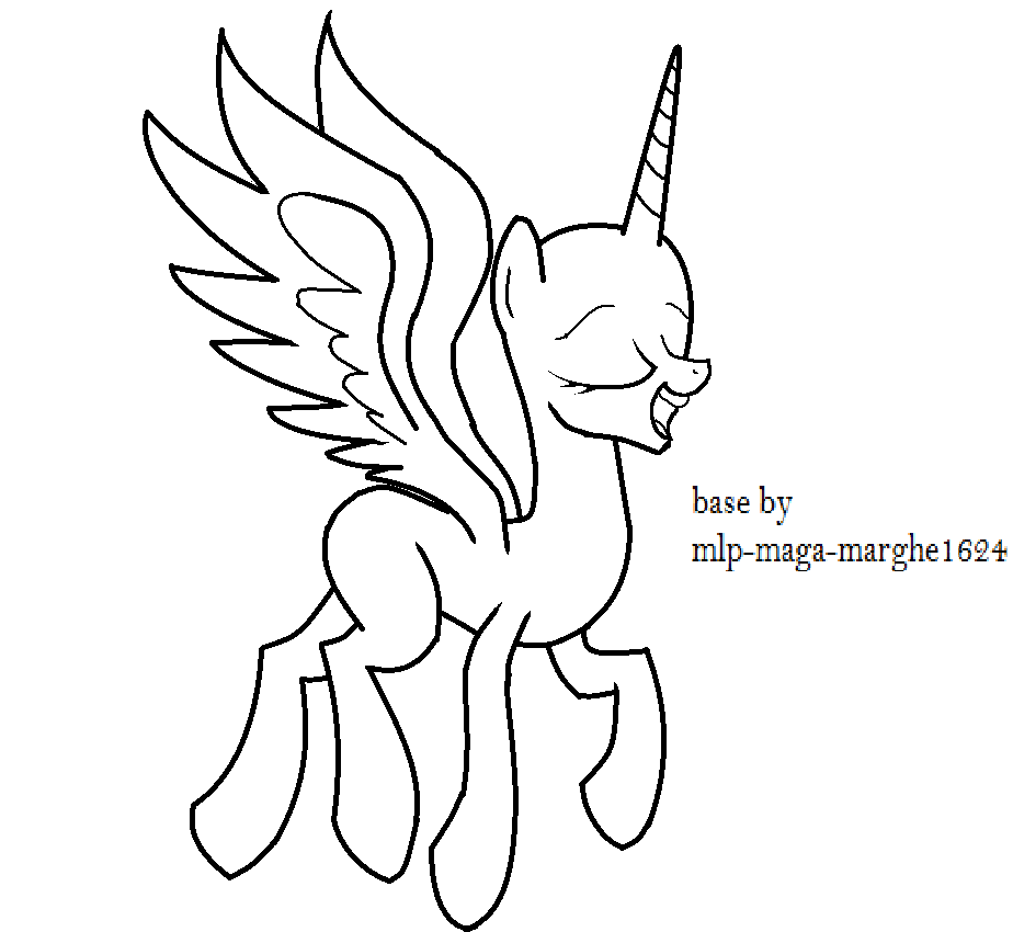 alicorn coloring pages - m alicorn base coloring pages