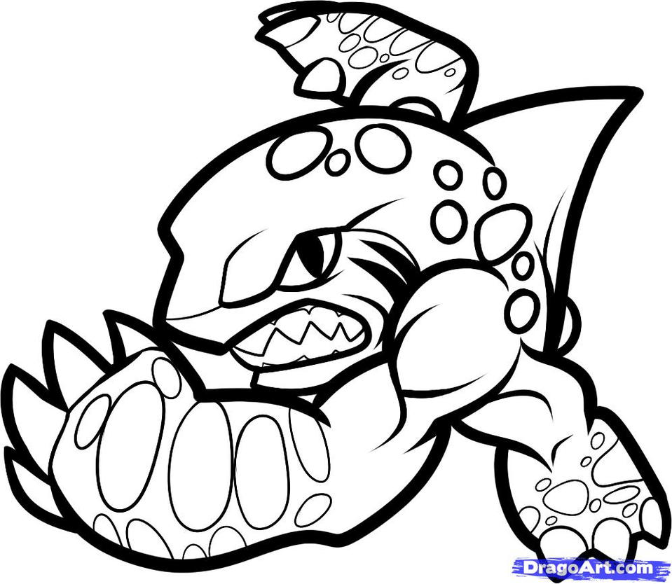 skylanders coloring pages terrafin restaurant - photo#25