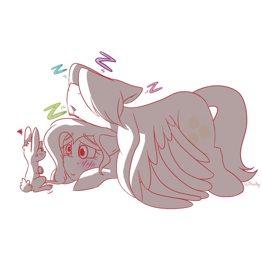 Shhhh, he's sleeping by MariMey
