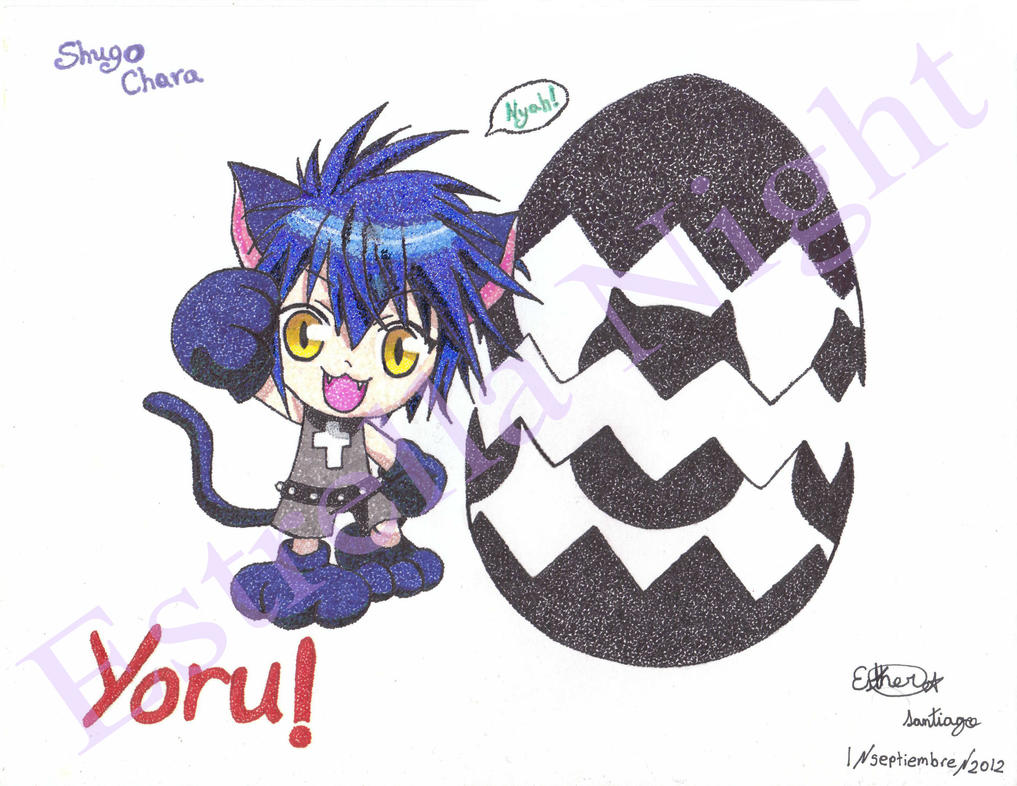 Yoru, Shugo Chara (pointillism) by Estrella-Night