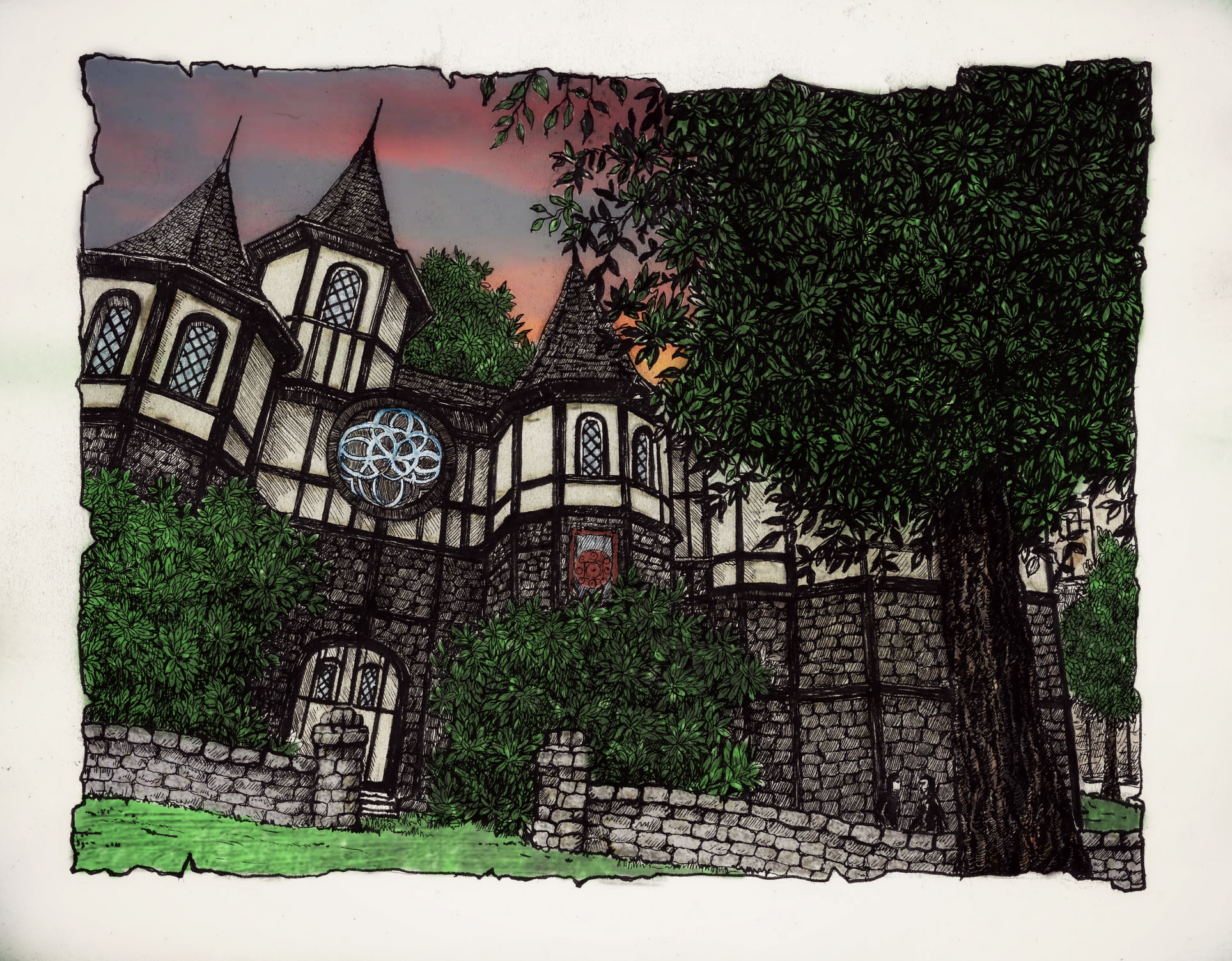 Dusk over The Cheydinhal Mages Guild by BinaryReflex