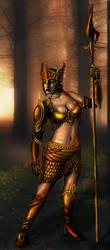 Golden Saint by BinaryReflex