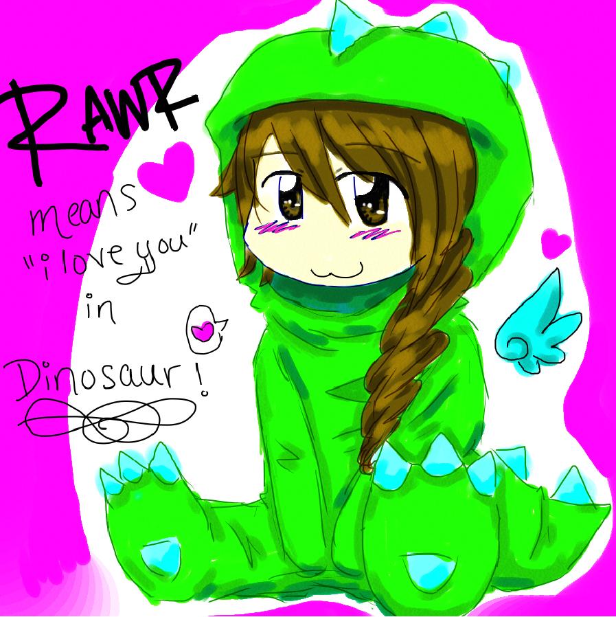 990e16817 Rawr means i love you in dinosaur girl