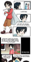 Comic - Nightwing and Red Hood by yolin