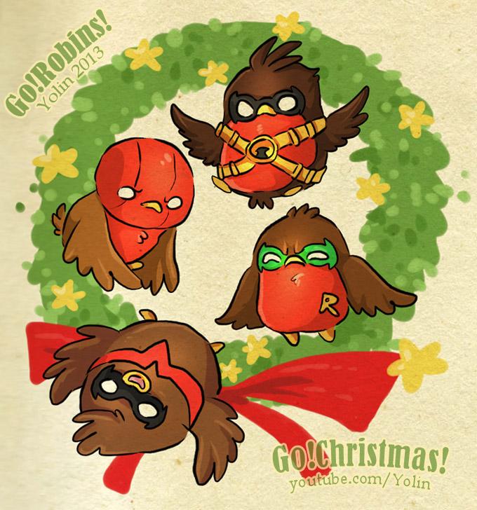 Christmas Robins by yolin