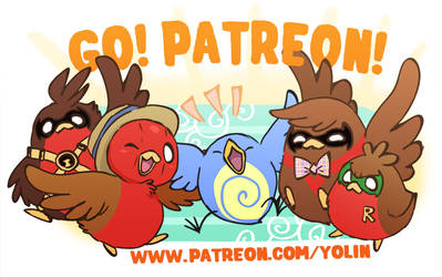 Go!Robins! is now on Patreon!
