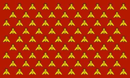 Merovingian Frankia Royal Flag (Bourbon style)
