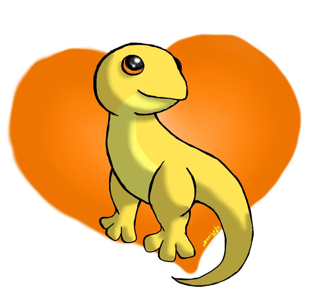 Cute Salamander Drawing