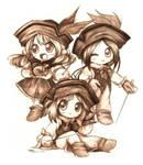 3 Chibi Musketeers