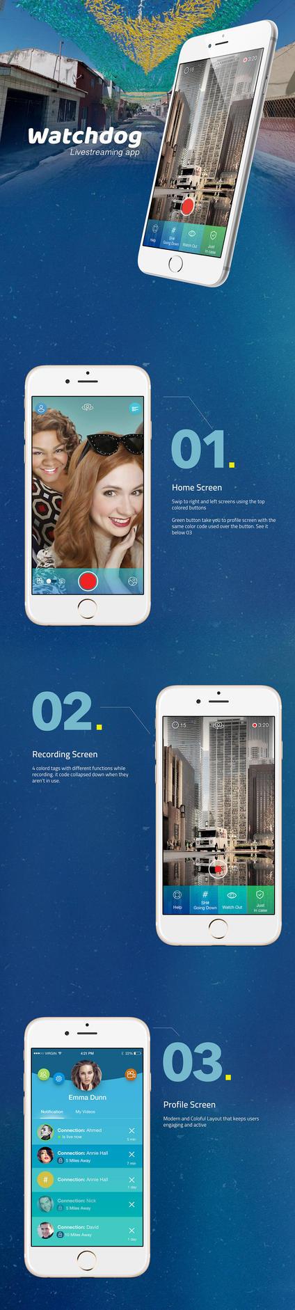 Live-streaming mobile app by ahmedzahran