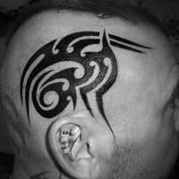 Tribal thru the skull by ravenwarlock