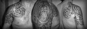 Symmetric Maori Tattoo