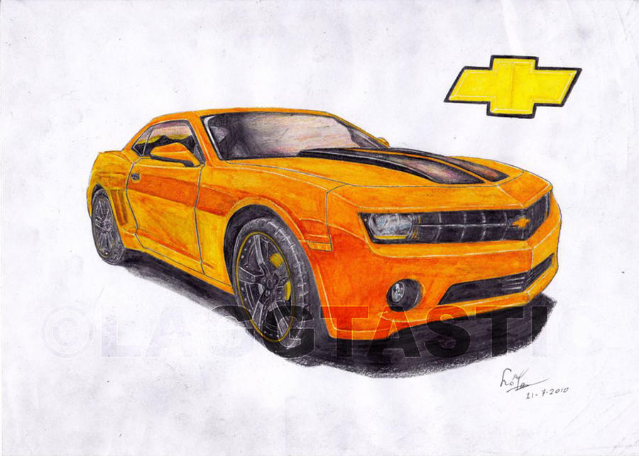 1st Colour Drawing 2010 Camaro By Laggtastic On Deviantart