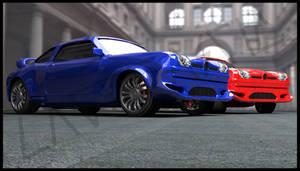 3d car design render