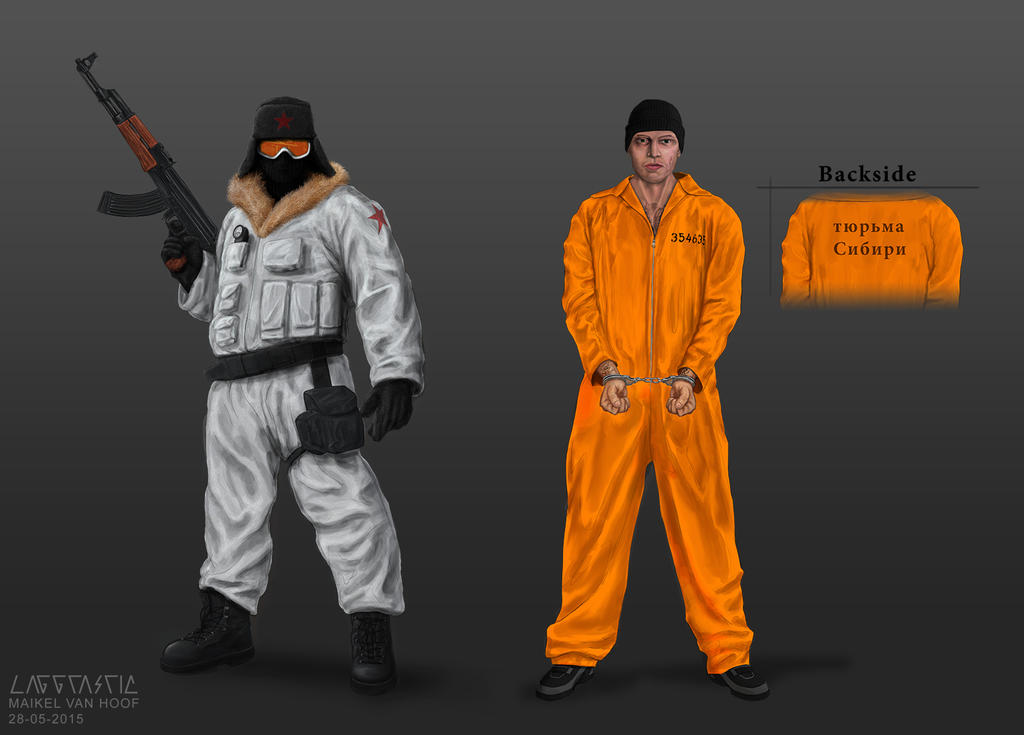 Characters concept art Project Siberia by Laggtastic