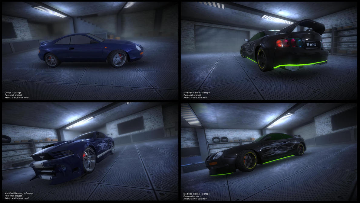 Unity 3D car garage by Laggtastic