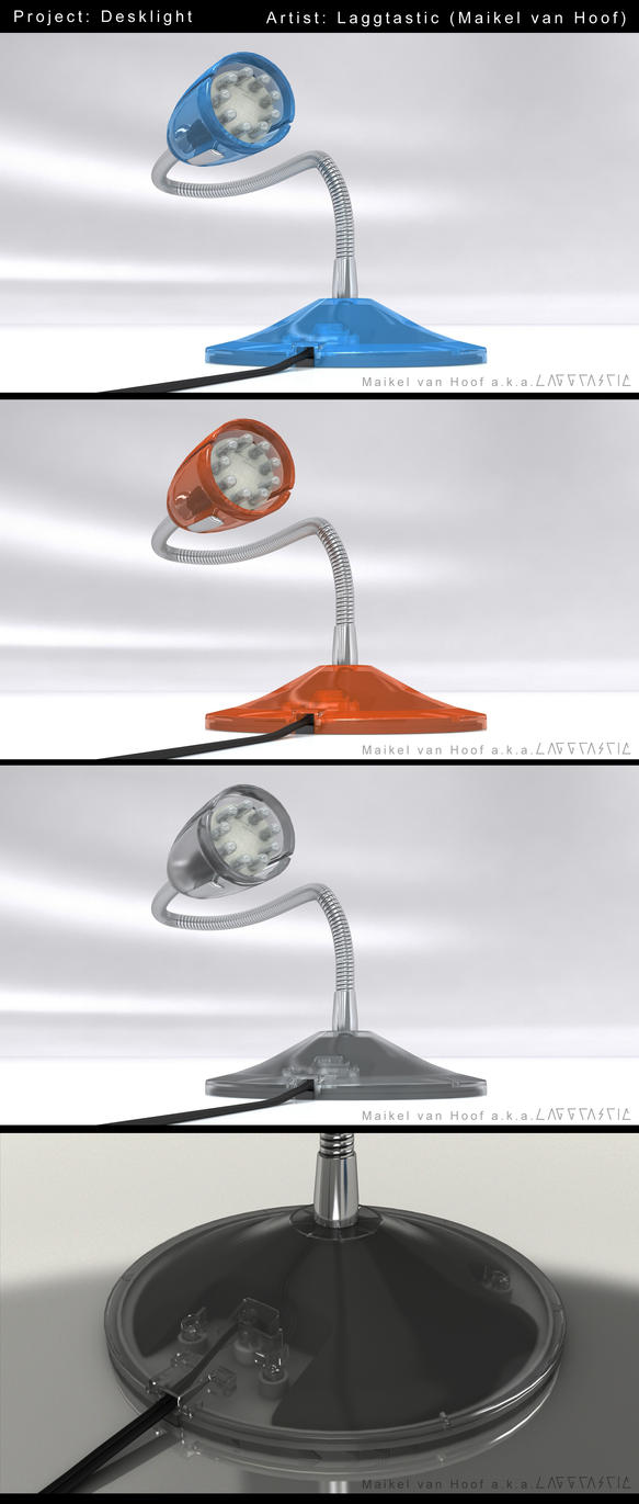 Desklight 3D model and animation by Laggtastic