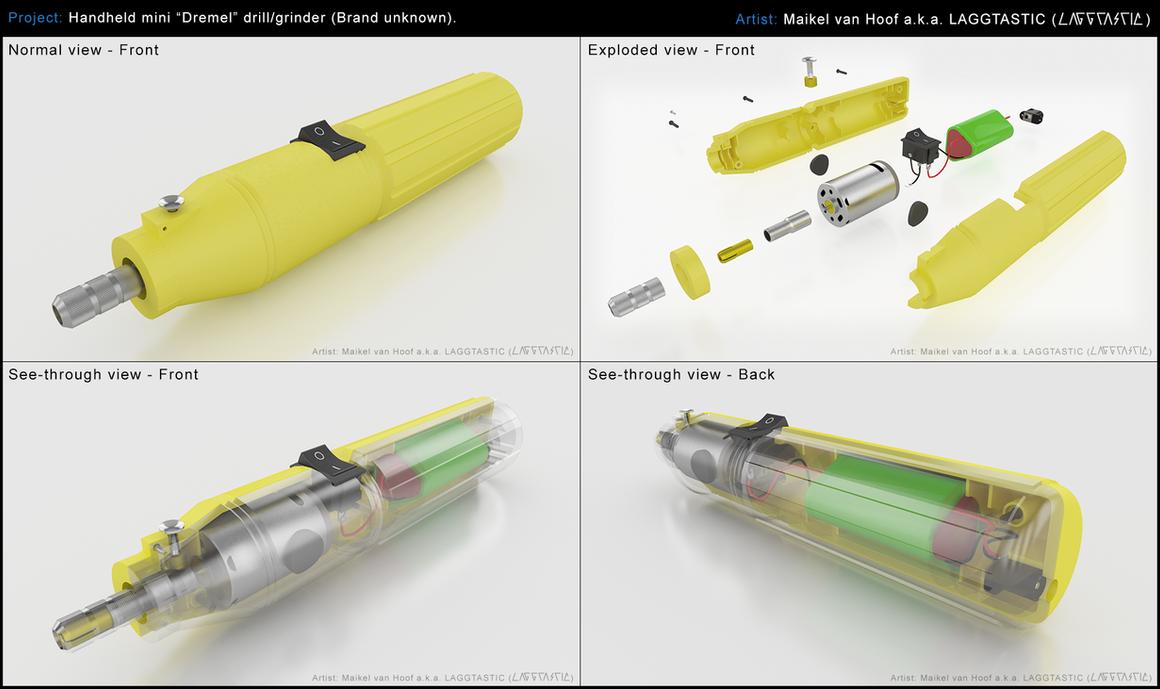 Handheld mini drill/grinder 3D model by Laggtastic