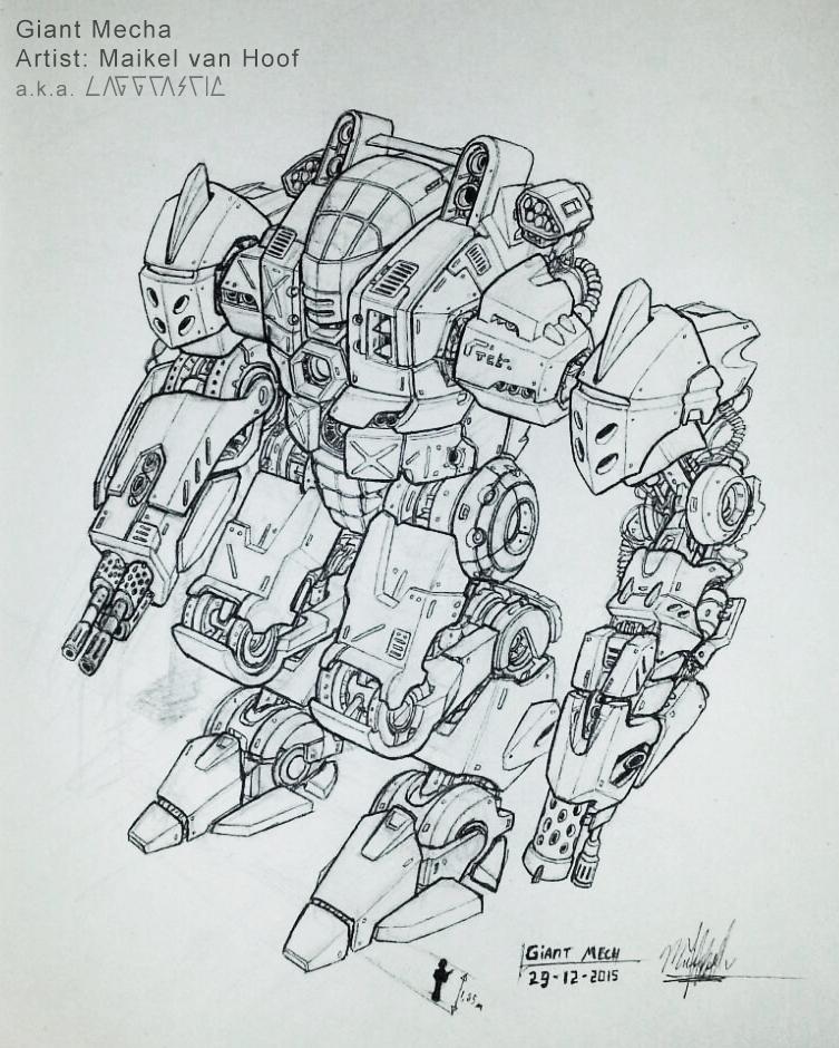 Giant Mecha sketch by Laggtastic