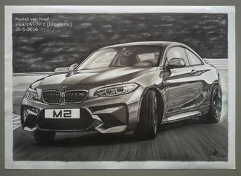 BMW M2 Coupe Drift marker drawing