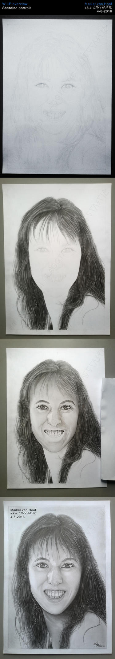 Sheraine Portrait WIP Overview by Laggtastic