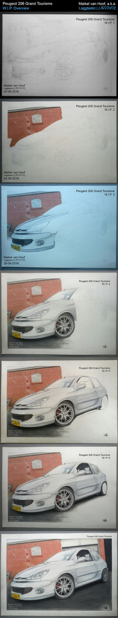 Peugeot 206 Grand Tourisme WIP overview by Laggtastic