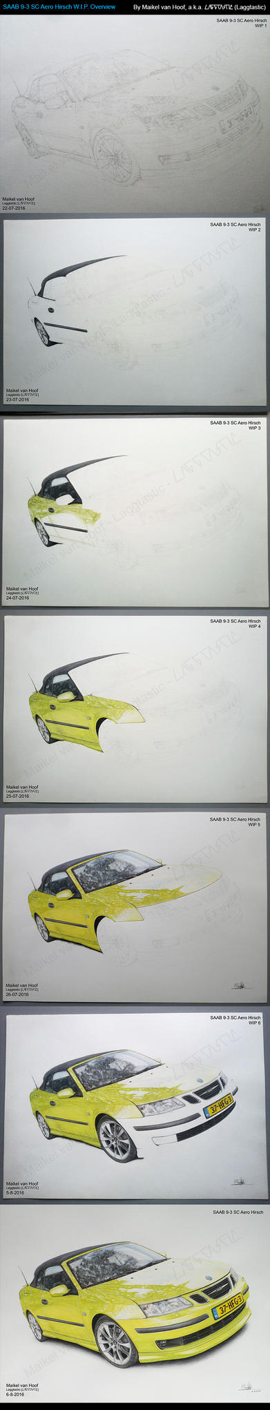 SAAB 9-3 SC Aero Hirsch WIP Overview by Laggtastic
