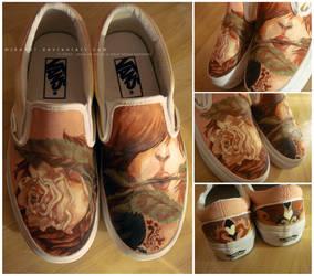 Painted Vans: Wedding by Mikandii