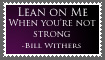 Lean on Me Stamp by Sweinhorse