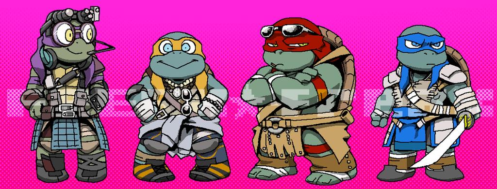 Chibi Movie Turtles by FREAKfreak