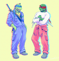 2K3 Leo and Raph by FREAKfreak