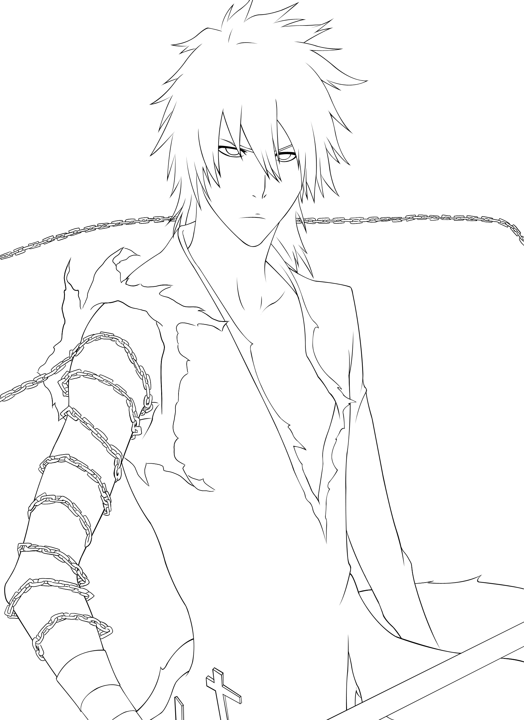 Old ichigo by sora dciel on deviantart for Ichigo coloring pages