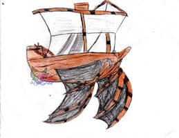 Ak'ta flying ship design