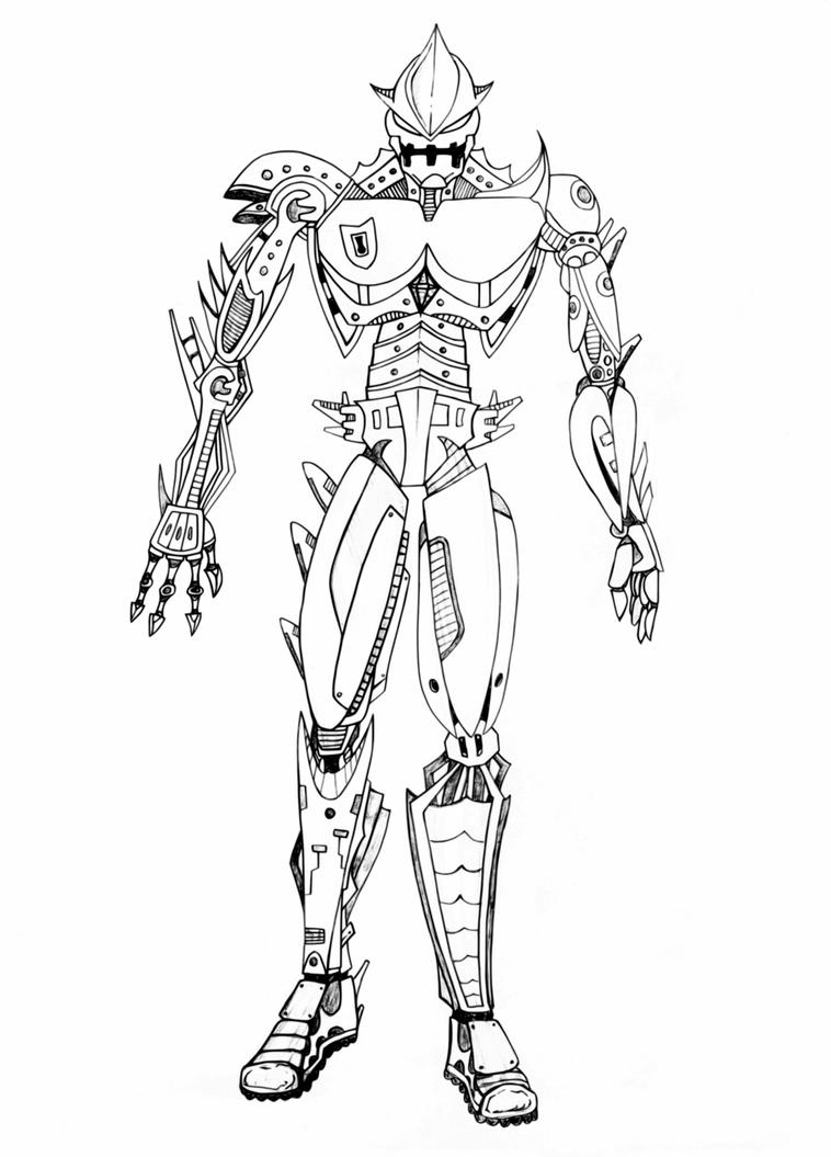 Line Drawing Robot : New robot line art by smd on deviantart