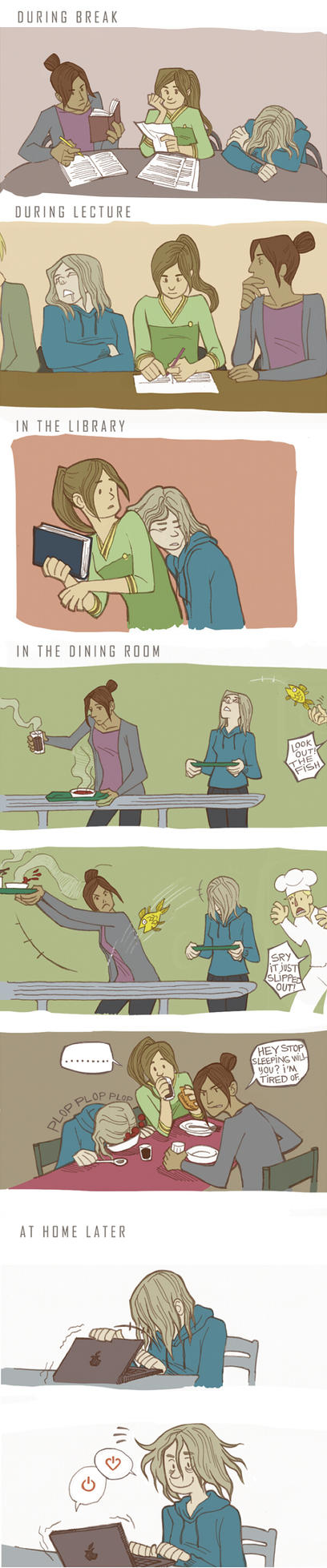 A typical university day by zumart