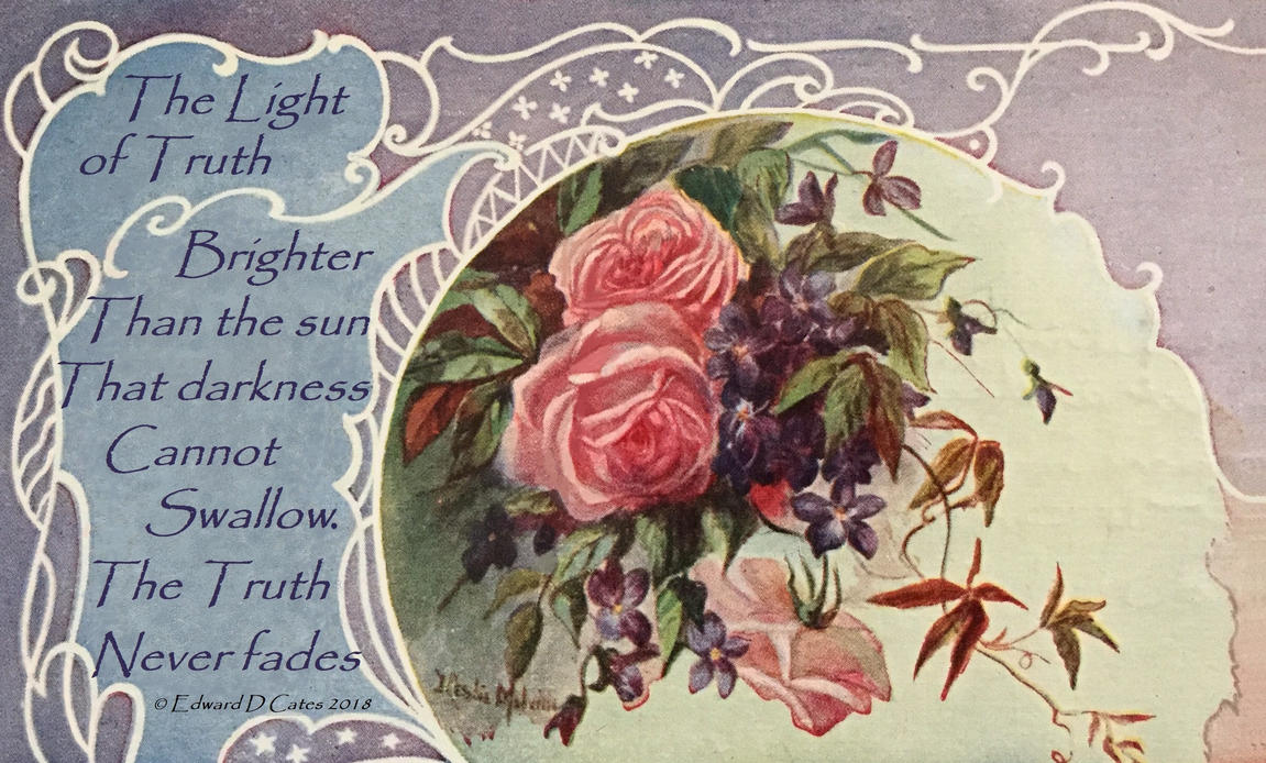 The Light of Truth Haiku graphic by Barosus