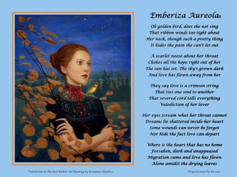 Emberiza Aureola - (with painting)