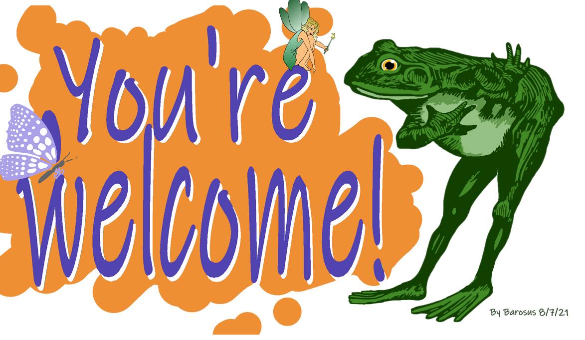 You're Welcome - Frog