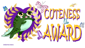 Cuteness Award - transparent background