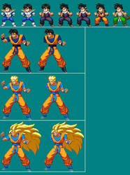 Kid and Future Gohan extreme butoden Alt Costumes