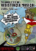 Cartel 15 aniversiario de Tipo Vigo by Davida