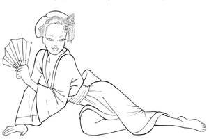 La geisha del Dragon - Tinta by Davida