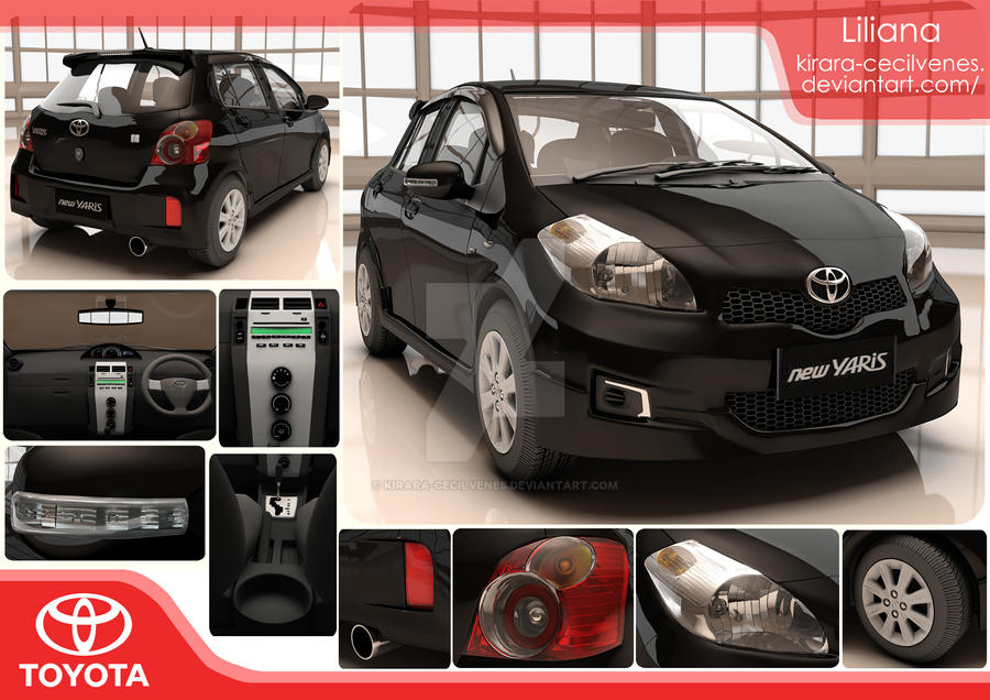 Toyota Yaris - 3D model by Kirara-CecilVenes