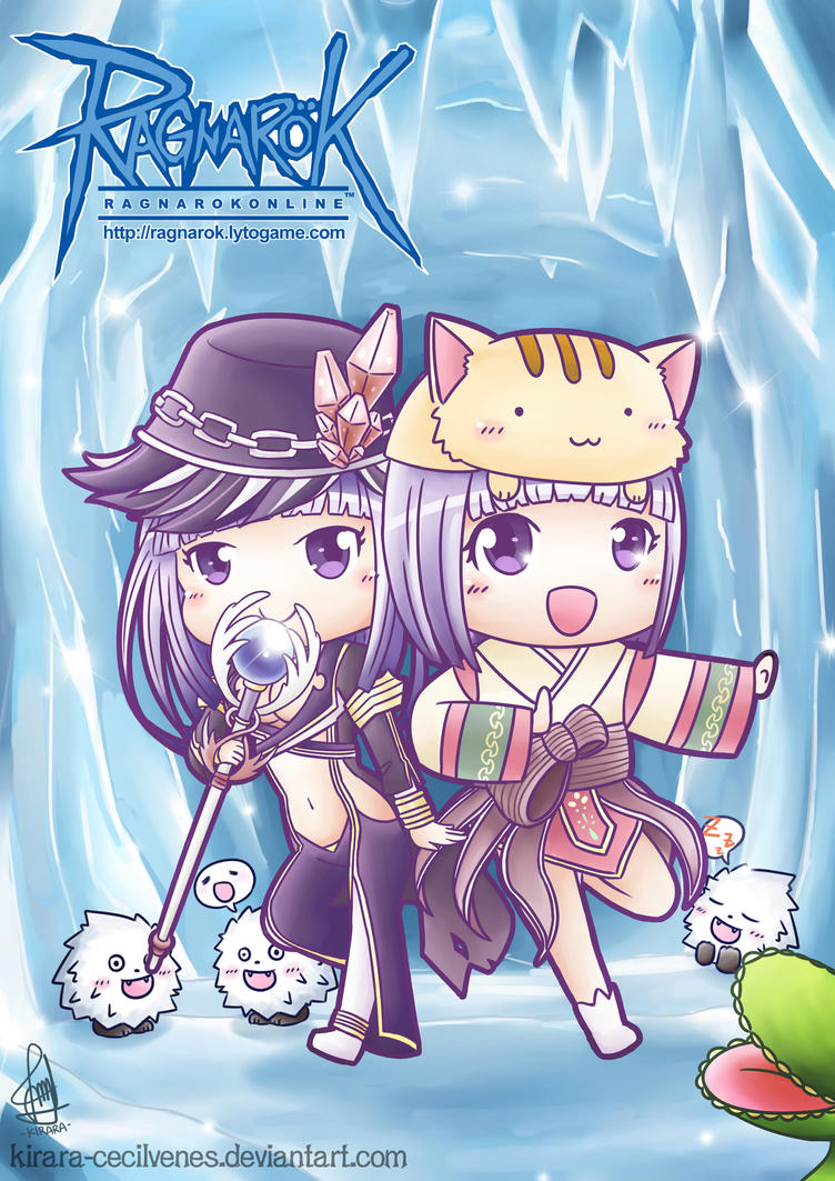Twin Magician at the Ice Dungeon by Kirara-CecilVenes