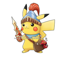Commission - Pikachu x Beaver Knight by Kirara-CecilVenes