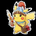 Commission - Pikachu x Beaver Knight